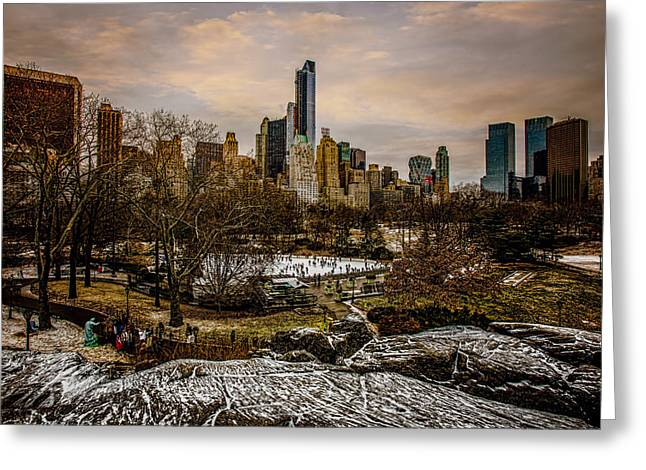 January At Central Park South Greeting Card by Chris Lord