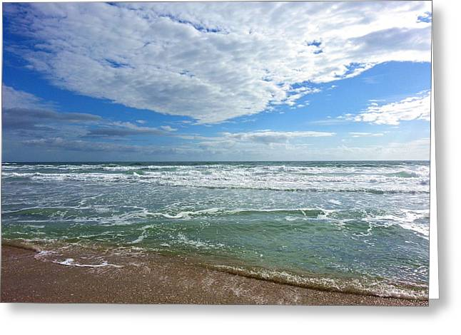 Wrightsville Beach Greeting Cards - January at WB Greeting Card by Karen Rhodes