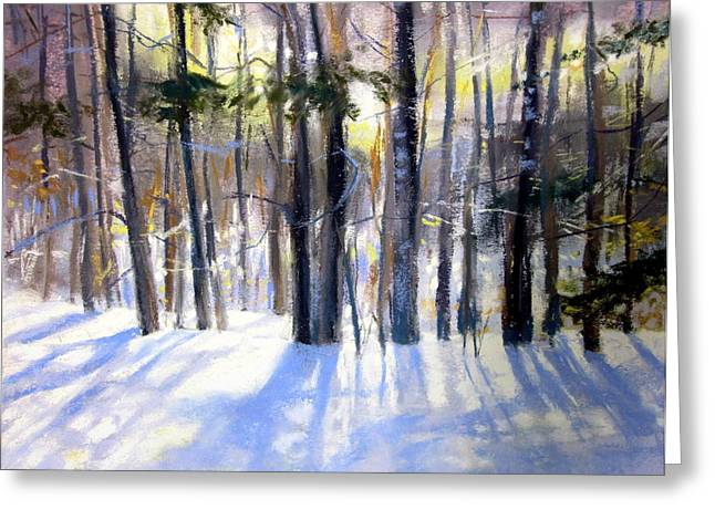 January Blues Greeting Card by Jeanne Rosier Smith