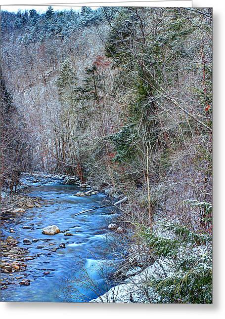 Smoky Greeting Cards - January In The Smokies Greeting Card by Michael Eingle