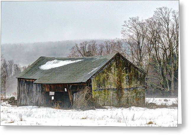 New England Snow Scene Greeting Cards - January Morning Greeting Card by Geoffrey Coelho