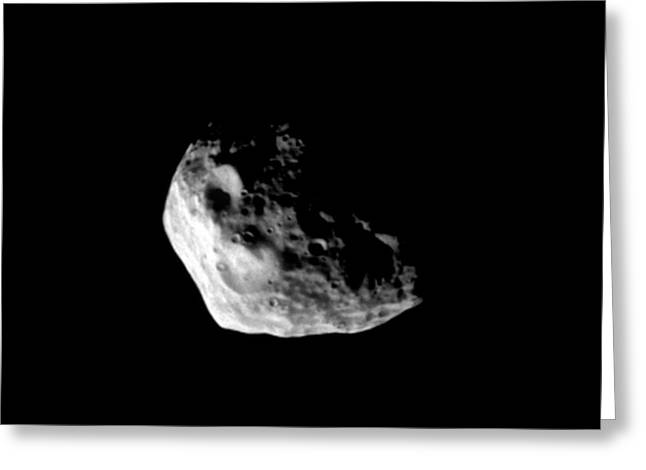 Janus From Space Greeting Card by Nasa/jpl/space Science Institute