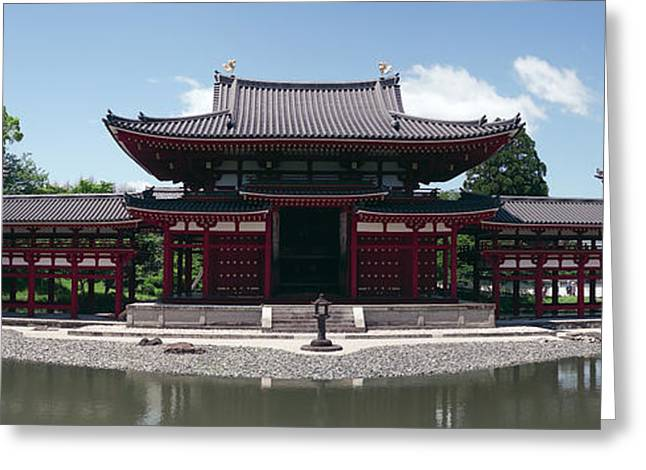 Shogun Photographs Greeting Cards - Japan Byodo-in Temple Greeting Card by Daniel Hagerman
