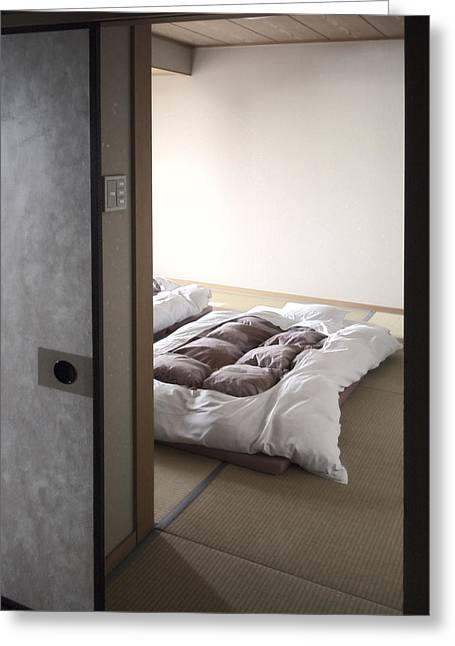 Shoji Greeting Cards - Japan Futon Sleep Greeting Card by Daniel Hagerman