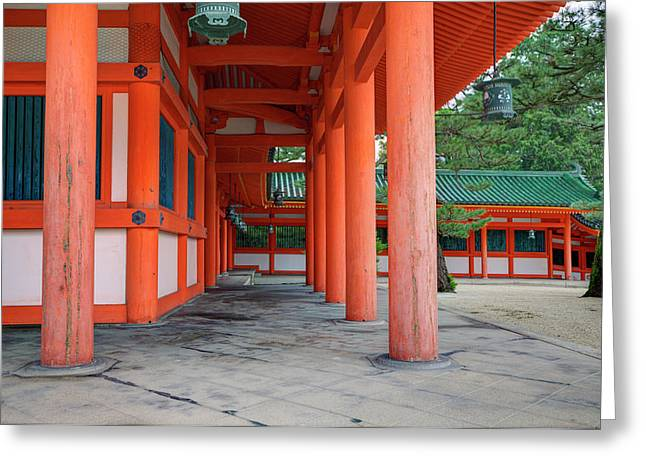 Japan, Kyoto Colorful Shinto Shrine Greeting Card by Jaynes Gallery