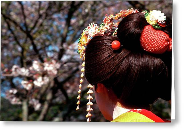 Japan, Kyoto Rear View Close-up Greeting Card by Jaynes Gallery