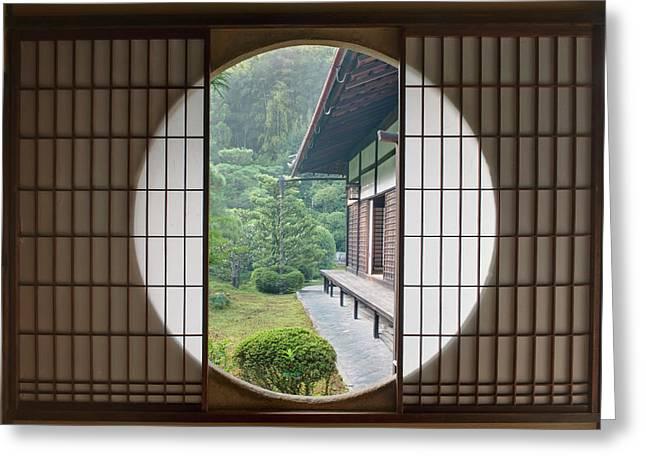 Japan, Kyoto, Sesshuji Temple, Tea Greeting Card by Rob Tilley