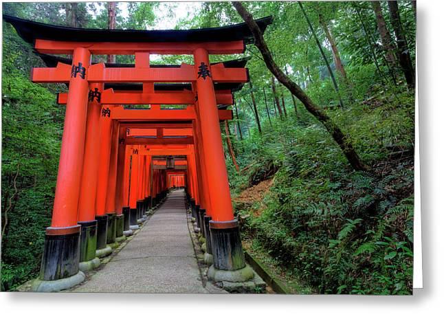 Japan, Kyoto Torii Gates Greeting Card by Jaynes Gallery