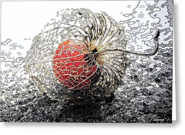 Japanese Berry Greeting Card by Cadence Spalding