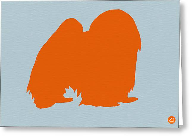 Japanese Greeting Cards - Japanese Chin Orange Greeting Card by Naxart Studio
