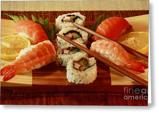 Japanese Cuisine Greeting Card by Inspired Nature Photography Fine Art Photography