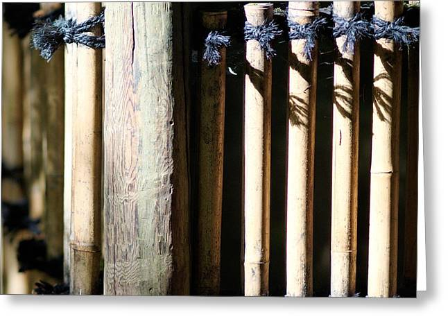 Bamboo Fence Greeting Cards - Japanese Garden - 41 Greeting Card by   FLJohnson Photography