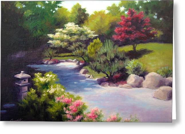 This Garden Is Named Shomu-en Greeting Cards - Japanese Garden At Cheekwood Greeting Card by Janet King