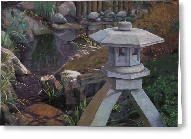 Japanese Garden Greeting Card by Christopher Reid