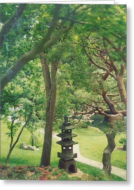 Robert Bray Greeting Cards - Japanese Garden Greeting Card by Robert Bray