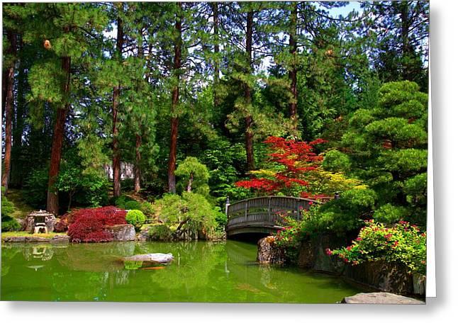 Spokane Greeting Cards - Japanese Garden Greeting Card by Stuart Baxter