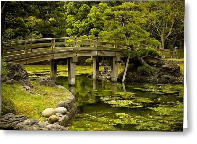 Dreamy Photographs Greeting Cards - Japanese Garden Tokyo Greeting Card by Sebastian Musial