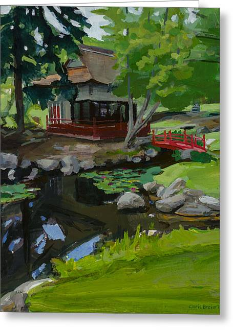 Canandaigua Greeting Cards - Japanese Gardens Greeting Card by Chris Breier
