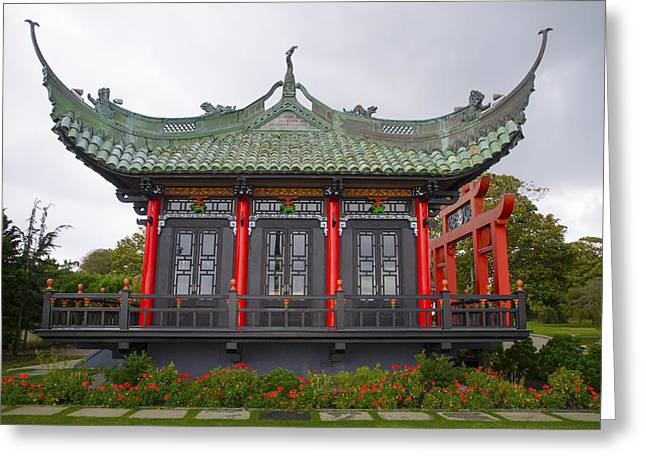 Japanese House - Marble House Newport Ri Greeting Card by Bill Cannon