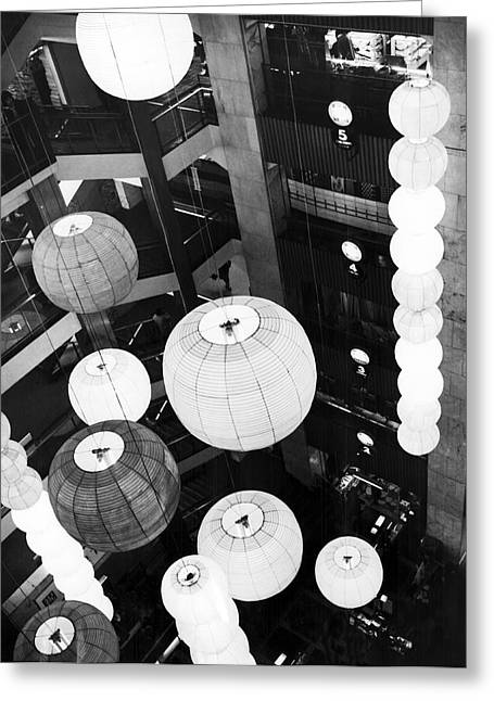 Japanese Lantern Display Greeting Card by Underwood Archives