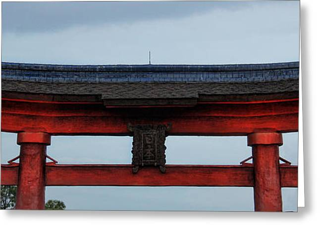 Torii Greeting Cards - Japanese Shrine Greeting Card by Lee Dos Santos