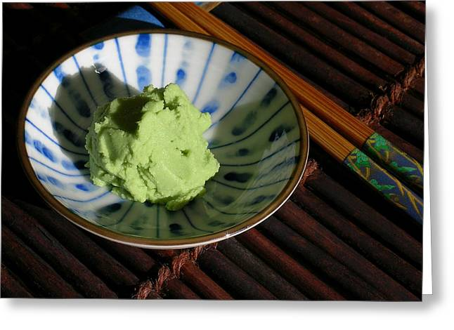Wasabi Greeting Cards - Japanese Wasabi Paste Greeting Card by James Temple