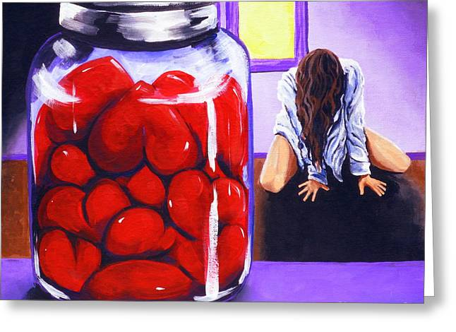 Divorce Greeting Cards - Jar Of Hearts Greeting Card by Jackie Carpenter