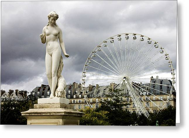 Tuileries Greeting Cards - Jardin des Tuileries Greeting Card by Fabrizio Troiani