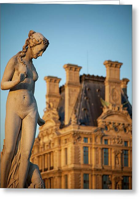 Jardin Des Tuileries Female Statue Greeting Card by Brian Jannsen