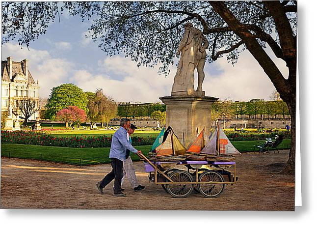 Parisienne Greeting Cards - Jardin du Luxembourg  Greeting Card by Maria Angelica Maira