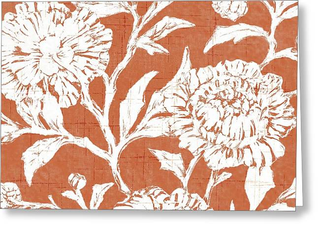 Chic Greeting Cards - Jardin Floral III Greeting Card by Paul Brent