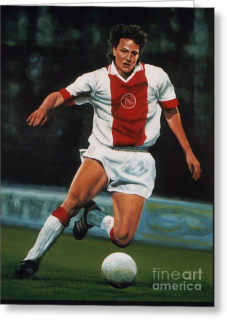 Europa Greeting Cards - Jari Litmanen Greeting Card by Paul  Meijering