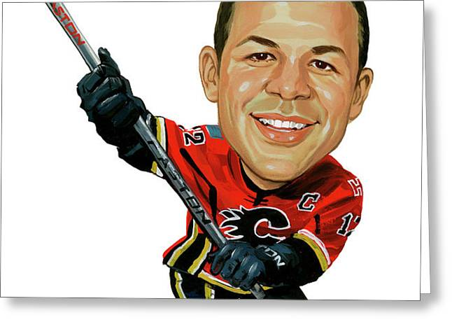 Jarome Iginla Greeting Card by Art