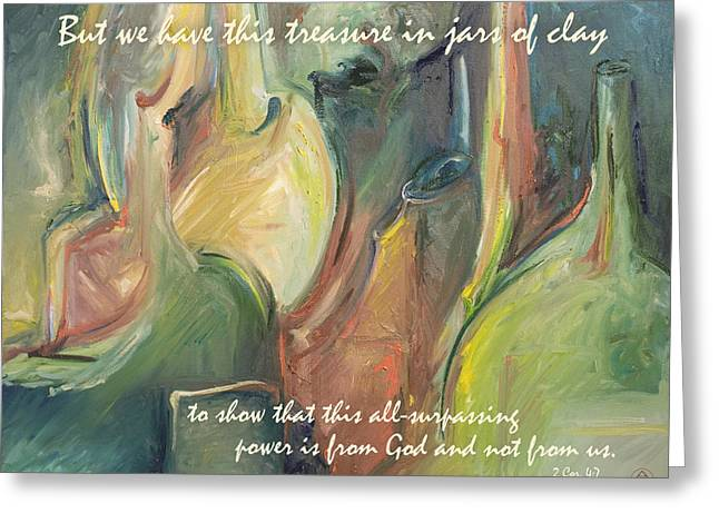 Scriptural Greeting Cards - Jars of Clay  Greeting Card by Art In The Word
