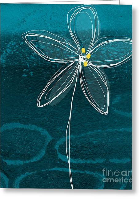 Lines Mixed Media Greeting Cards - Jasmine Flower Greeting Card by Linda Woods