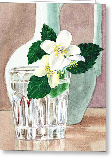 Jasmine Greeting Cards - Jasmine Greeting Card by Irina Sztukowski