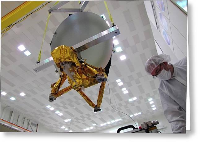 Jason-3 Satellite Construction Greeting Card by Nasa/jpl-caltech