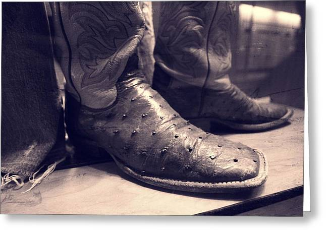 Jason Aldean's Boots Greeting Card by Dan Sproul