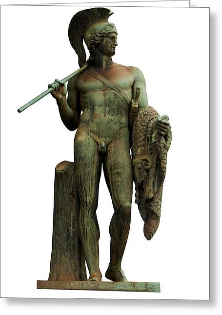 Greek Sculpture Greeting Cards - Jason and the golden fleece Greeting Card by Fabrizio Troiani