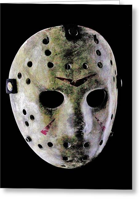 Horror Film Greeting Cards - Jason Greeting Card by Benjamin Yeager