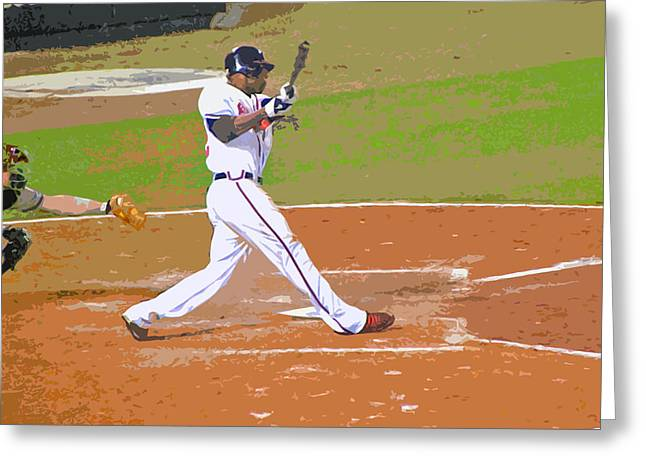Baseball Art Greeting Cards - Jason Connects Greeting Card by Larry Bishop