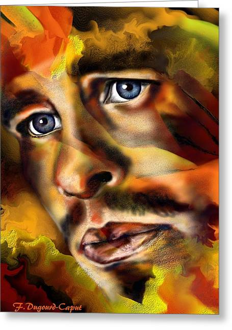Abstract Digital Paintings Greeting Cards - Jason Greeting Card by Francoise Dugourd-Caput