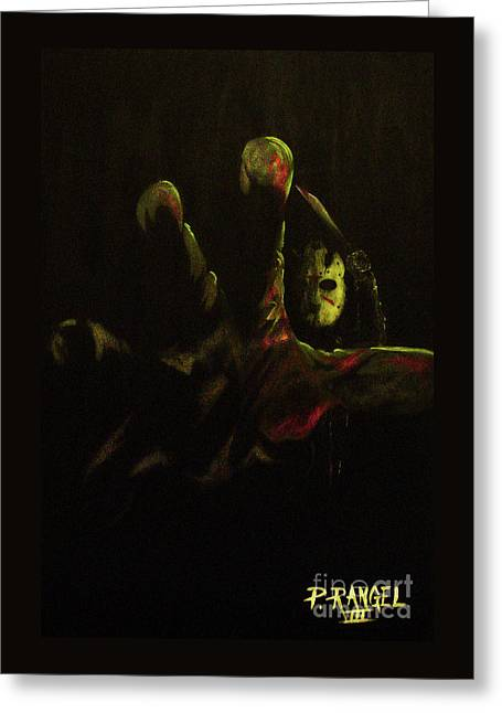 Jason Voorhees Greeting Cards - Jason  Greeting Card by Phillip Rangel