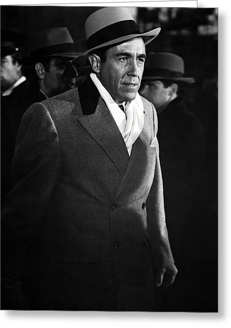 Massacre Greeting Cards - Jason Robards in The St. Valentines Day Massacre  Greeting Card by Silver Screen