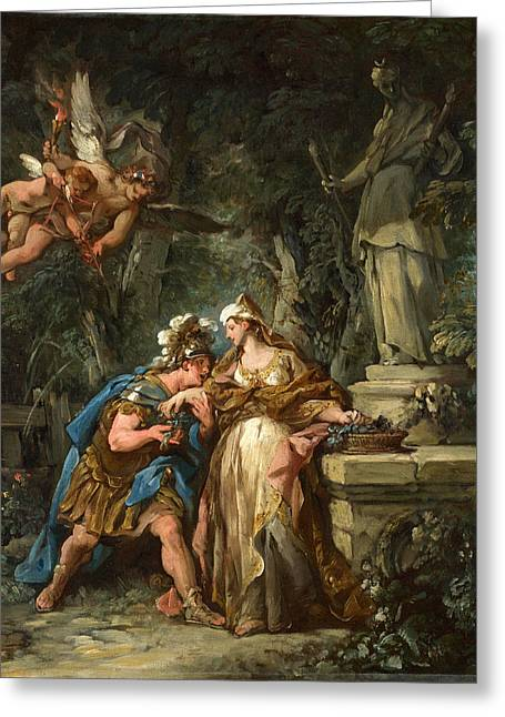 Francois Greeting Cards - Jason swearing Eternal Affection to Medea Greeting Card by Jean-Francois Detroy