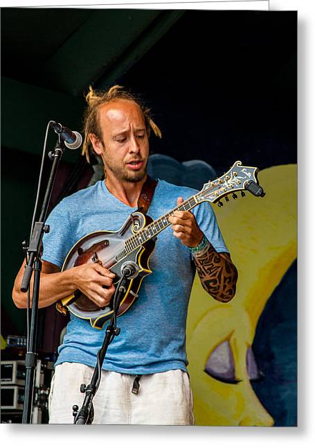 Blissfest Greeting Cards - Jason Wheeler of Fauxgrass Greeting Card by Bill Gallagher