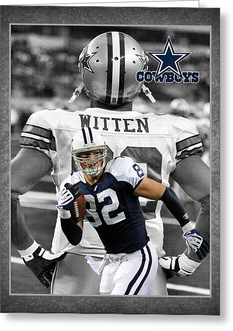 Football Photographs Greeting Cards - Jason Witten Cowboys Greeting Card by Joe Hamilton