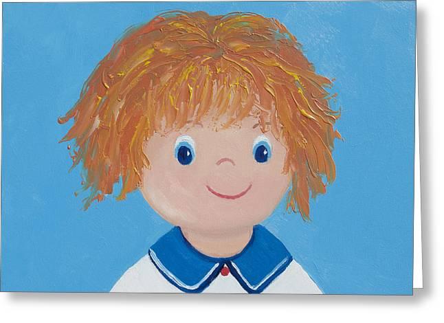 Little Boy Greeting Cards - Jasper Greeting Card by Jan Matson