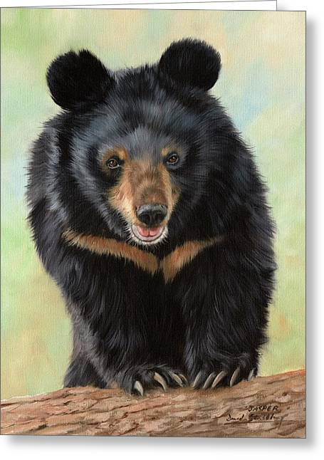 Asiatic Greeting Cards - Jasper Moon Bear - In support of Animals Asia Greeting Card by David Stribbling