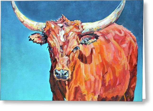 Steer Greeting Cards - Jasper Greeting Card by Patricia A Griffin